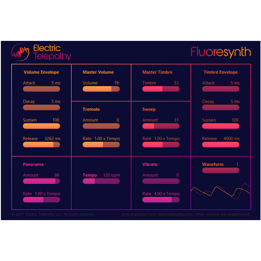 Fluoresynth Online Web Synthesizer
