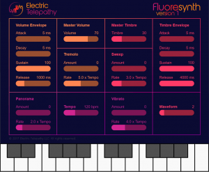 Electric Telepathy Fluoresynth SoftSynth WebSynth
